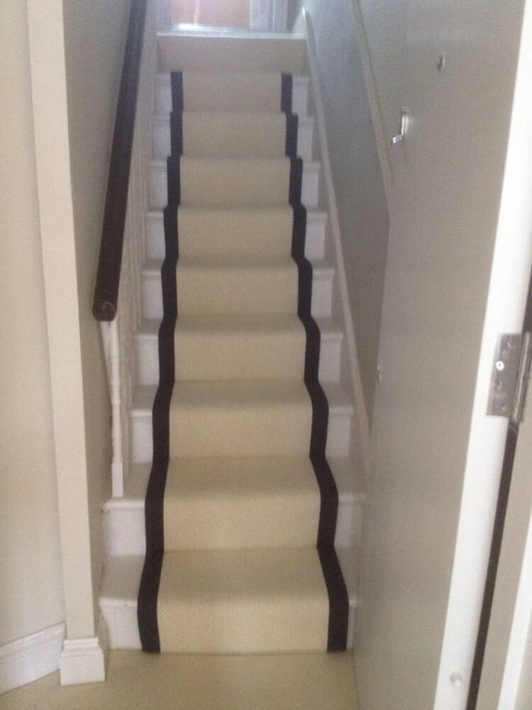 Stair runners, whipping, taping and coir matting by Cherry Carpets